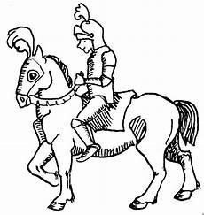 Malvorlagen Ritter Hund Ritter Mit Pferd Zum Ausmalen