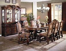 neo renaissance formal dining room set table 6 side 2 arm chairs china cabinet ebay