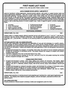 java senior developer resume template premium resume