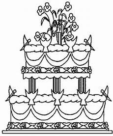 Gratis Malvorlagen Hochzeit Zweistoeckige Hochzeitstorte Ausmalbild Malvorlage