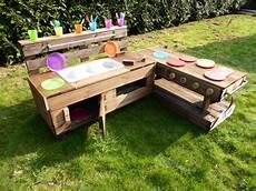 Kinderküche Aus Paletten - palettenm 246 bel kinderk 252 che m aus holz f 252 r garten