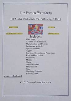 maths worksheets com 100 eleven plus maths practice worksheets for 11 preparation pdf file to print by