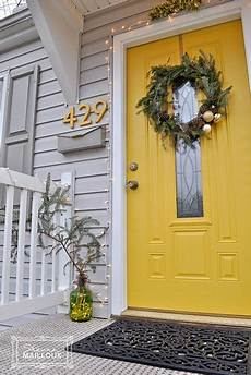 entryway door color accents framework bright sunshine yellow livens up neutral house