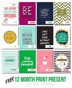12 month print christmas present free printables company
