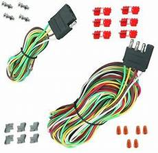 25 4 way trailer wiring connection kit flat wire extension harness boat car rv ebay