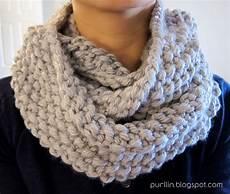 Strickmuster Schal Lochmuster - purllin december seed stitch infinity circle scarf free