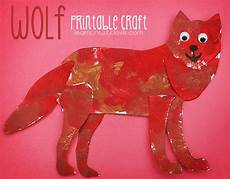 printable wolf craft