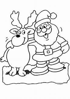 malvorlagen weihnachtsmann mit rentier weihnachtsmann mit rentier weihnachtsmann