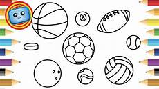 printable coloring pages sports balls 17740 sports balls drawing and painting for colouring pages learn color animation