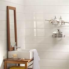 revetement pour mur salle de bain lambris blanc derri 232 re vasque interiores salle de