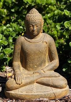 sold earth touching garden buddha 12 quot 67vc12a