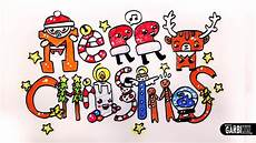 merry christmas how to draw cute and kawaii letters by garbi kw youtube