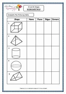 grade 4 maths resources 8 2 geometry 2d and 3d shapes printable worksheets lets share