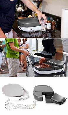 porter is a multi purpose bbq tray that eliminates extra trips between your kitchen and grill