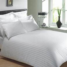 hotel cotton sheets white colour 250 thread count cotton luxury hotel stripe bedding bedlinen range