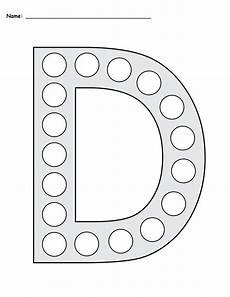 printable dotted letter worksheets 23751 letter d do a dot printables uppercase lowercase supplyme