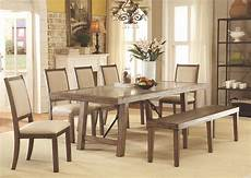 colettte rustic oak rectangular dining room from furniture of america coleman furniture