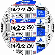 12 2wire diagram romex 14 2 2 with ground electrical wire 25ft coil new ebay