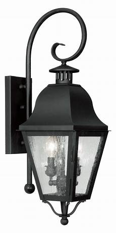 livex lighting black amwell large outdoor wall sconce with 2 lights black 2551 04 from amwell