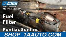 How To Install Replace Fuel Filter Cavalier Sunfire 95 05