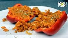 Gefüllte Paprika Vegan - abnehmen rezept gef 252 llte paprika vegan hauptmahlzeit