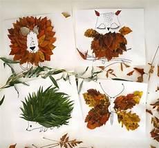 basteln mit frischen herbstblättern herbstdeko basteln mit kindern 42 ganz einfache und