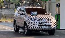 toyota fortuner 2020 facelift 2020 toyota fortuner facelift spied for the time