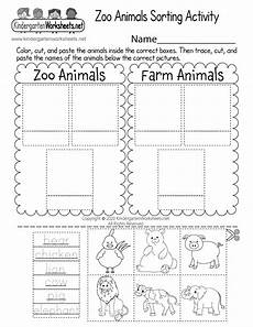 animals worksheets for kindergarten 14059 zoo animals sorting activity worksheet for kindergarten free printable digital pdf