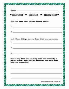 earth day worksheet reduce reuse recycle april earth month pinterest reuse recycle
