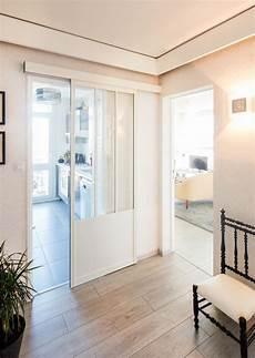 Porte Coulissante Atelier Sur Mesure En Aluminium Blanc