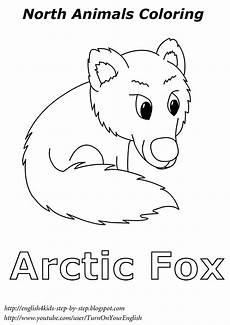 Arctic Fox Coloring Sheet Arctic Fox Coloring For Esl Arctic Animals Polar