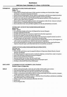 manager food beverage resume sles velvet