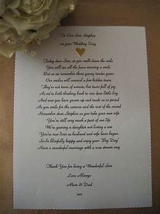 personalised wedding poem scroll to our son on his