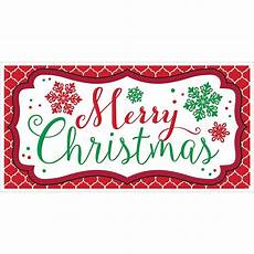 merry christmas banner 65in modern christmas party city