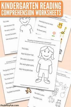 reading worksheets for kindergarten 20386 kindergarten reading comprehension worksheets itsy bitsy