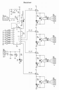 4 channel infrared remote relays electronic circuit diagram 62621 circuit and wiring diagram