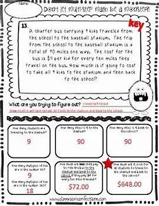 step word problem worksheets 4th grade 11472 multi step word problems 4th grade 5th grade math worksheets tpt