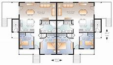 fab 4 plex house plan 22346dr architectural designs