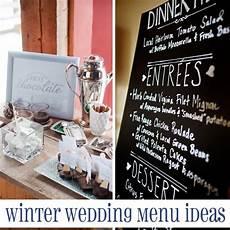 Winter Wedding Menu Ideas