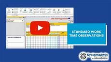 standard work combination sheet youtube