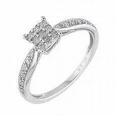 9ct white gold 15 point diamond ring h samuel