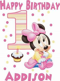 Malvorlagen Minni Maus Baby Baby Minnie Mouse 1st Birthday Iron On Transfer Or Shirt