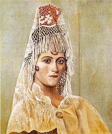olga in a mantilla 1917 pablo picasso wikiart org