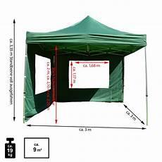 profi falt pavillon partyzelt mit 4 seitenteilen 3x3m gr 252 n