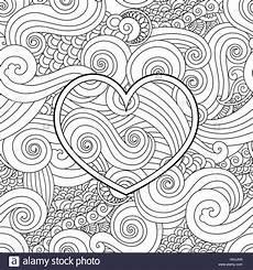 Malvorlagen Valentinstag Englisch Malvorlagen Mit Herz Und Asiatische Welle Curl Ornament