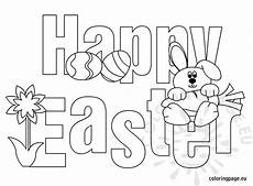 happy easter free printable coloring page