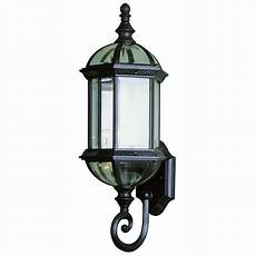 bel air lighting 1 light black coach outdoor wall lantern with clear glass 4180 bk the