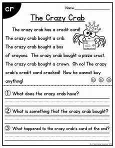 writing comprehension worksheets for grade 2 22810 blends and digraphs all in one reading passages reading comprehension passages reading