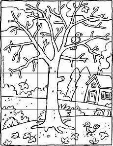 ein baum im winter puzzle 12 teile kiddimalseite