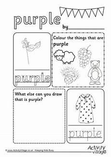 color purple worksheets for kindergarten 12930 colour worksheets